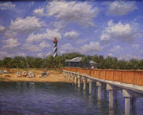 Charles dickinson fine art for St augustine fishing pier